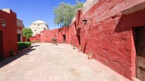 Фонтан в монастыре santa Каталины Arequipa сток-видео
