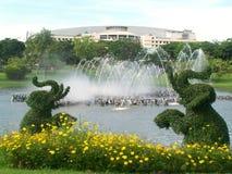 Фонтан в общественном парке Стоковое Изображение