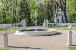 Фонтан в парке Łazienki Стоковые Изображения