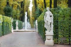 Фонтан в парке города стоковое изображение rf