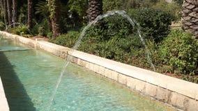Фонтан в парке Город-сад Rishon Lezion Израиль сток-видео