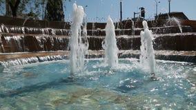 Фонтан в парке Город-сад Rishon Lezion Израиль видеоматериал