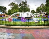 Фонтан в парке, Филадельфии, Пенсильвании Стоковые Изображения RF