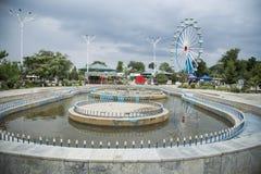 Фонтан в парке Стоковые Изображения RF