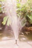 Фонтан в саде бабочки на глянцеватый день Стоковые Фотографии RF