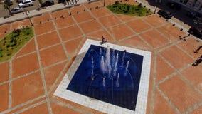 Фонтан в середине квадрата Европы в Батуми Georgia, убийственном лете, курорте стоковые фотографии rf