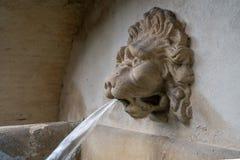Фонтан в форме головы льва расположенной в Праге Стоковое Изображение RF