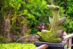 Фонтан в форме рыб танцев Рай тропика залива Yalong Стоковое Фото