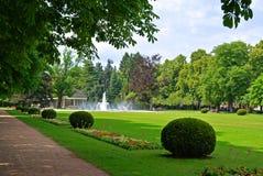 Фонтан в Central Park в городе Podebrady, чехии Стоковая Фотография