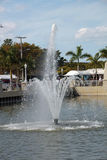 Фонтан в Fort Myers, Флориде Стоковое Фото