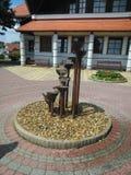 Фонтан в Keszthely стоковые фотографии rf