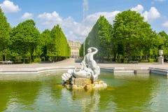 Фонтан в Schonbrunn садовничает, вена, Австрия стоковые фотографии rf