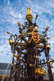 Фонтан, голландский парламент, вертеп Haag, Нидерланды Стоковые Фотографии RF