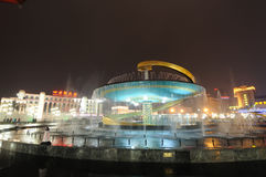 Фонтан дракона в квадрате Chengdu Tianfu Стоковое Изображение