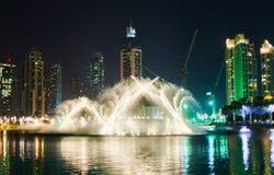 фонтан Дубай Стоковые Изображения