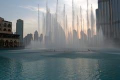 Фонтан Дубая Стоковая Фотография
