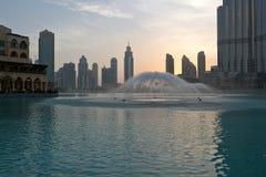Фонтан Дубая Стоковое Фото