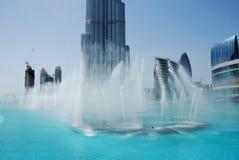 Фонтан Дубая Стоковые Фото