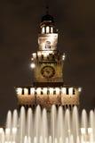 фонтан замока Стоковые Фотографии RF