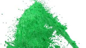 Фонтан зеленой краски как краска автомобиля на белой предпосылке с пользой альфы штейновой оно любит канал альфы версия 2 номеров иллюстрация вектора