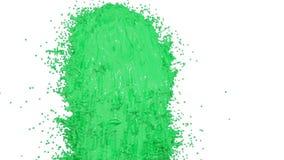 Фонтан зеленой краски как краска автомобиля на белой предпосылке с пользой альфы штейновой оно любит канал альфы Версия 5 бесплатная иллюстрация