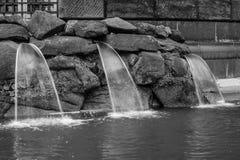 Фонтан и waterworks в городе Дрездене, Германии Стоковые Фото