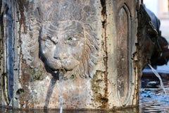 Фонтан льва в Мексике Стоковая Фотография