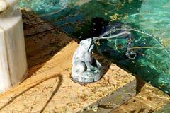 Фонтан лягушки Стоковые Изображения
