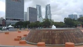 Фонтан Майами городская Флорида США перца Стоковое Фото