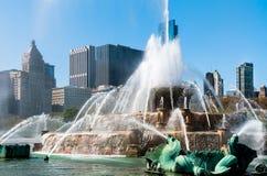 Фонтан мемориала Чикаго Buckingham Стоковые Фотографии RF