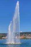 Фонтан на озере Цюрихе Стоковое Изображение RF