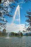 Фонтан на озере Стоковые Изображения RF