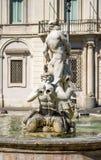 Фонтан Нептуна в аркаде Navona, Риме Стоковые Изображения