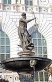 Фонтан Нептуна в Гданьске, Польша Стоковые Фотографии RF