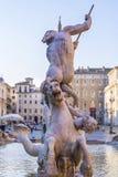 Фонтан Нептуна в Риме, Италии стоковое фото rf