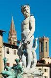 Фонтан Нептуна в Флоренс, Италии Стоковая Фотография