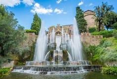 Фонтан Нептуна в ` Este виллы d, Tivoli, Лацие, центральной Италии Стоковые Фото
