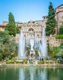 Фонтан Нептуна в ` Este виллы d, Tivoli, Лацие, центральной Италии Стоковые Изображения RF