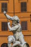Фонтан Нептуна на аркаде Navona в Риме стоковое изображение rf
