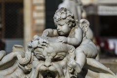 Фонтан Нептуна на аркаде Navona в Риме стоковые фото