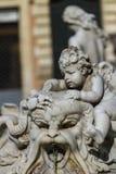 Фонтан Нептуна на аркаде Navona в Риме стоковые изображения rf