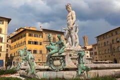 Фонтан Нептуна на квадрате Signoria, (Signor della аркады стоковая фотография rf