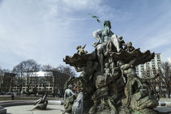 фонтан Нептун berlin Стоковое фото RF