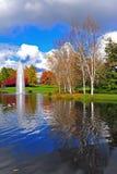 фонтан падения цветов предпосылки amungst стоковое изображение