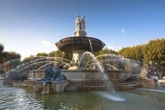 фонтан Провансаль en AIX Стоковые Фотографии RF
