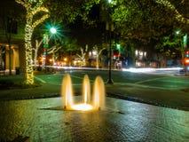 Фонтан площади Lytton Стоковые Изображения