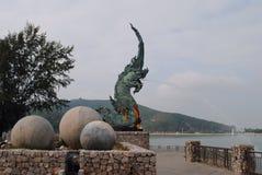 Фонтан дракона Стоковое фото RF