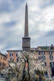 Фонтан 4 рек в аркаде Navona, Риме, Италии Стоковая Фотография