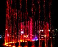Фонтан светов Стоковые Изображения
