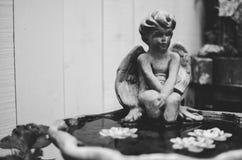 Фонтан статуи Анджела Стоковое Изображение